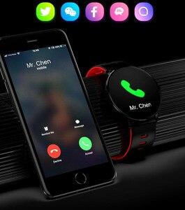Image 3 - Super Slim Smart Watch Men IP68 Waterproof Sports Smartwatch Men Clock Heart Rate Monitor Fitness Bracelet reloj inteligente K9