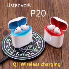 Wireless bluetooth earbuds, P20-TWS Flypods mini bluetooth headsets headphone w1 hi chip PK AirDots i20 i30 i60 i80 i200 i500(China)