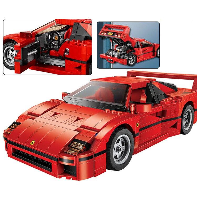 Совместим с lepining 10248Technic MOC Roadster Ferraries F40, модель суперкар, набор блоков, игрушечный блок