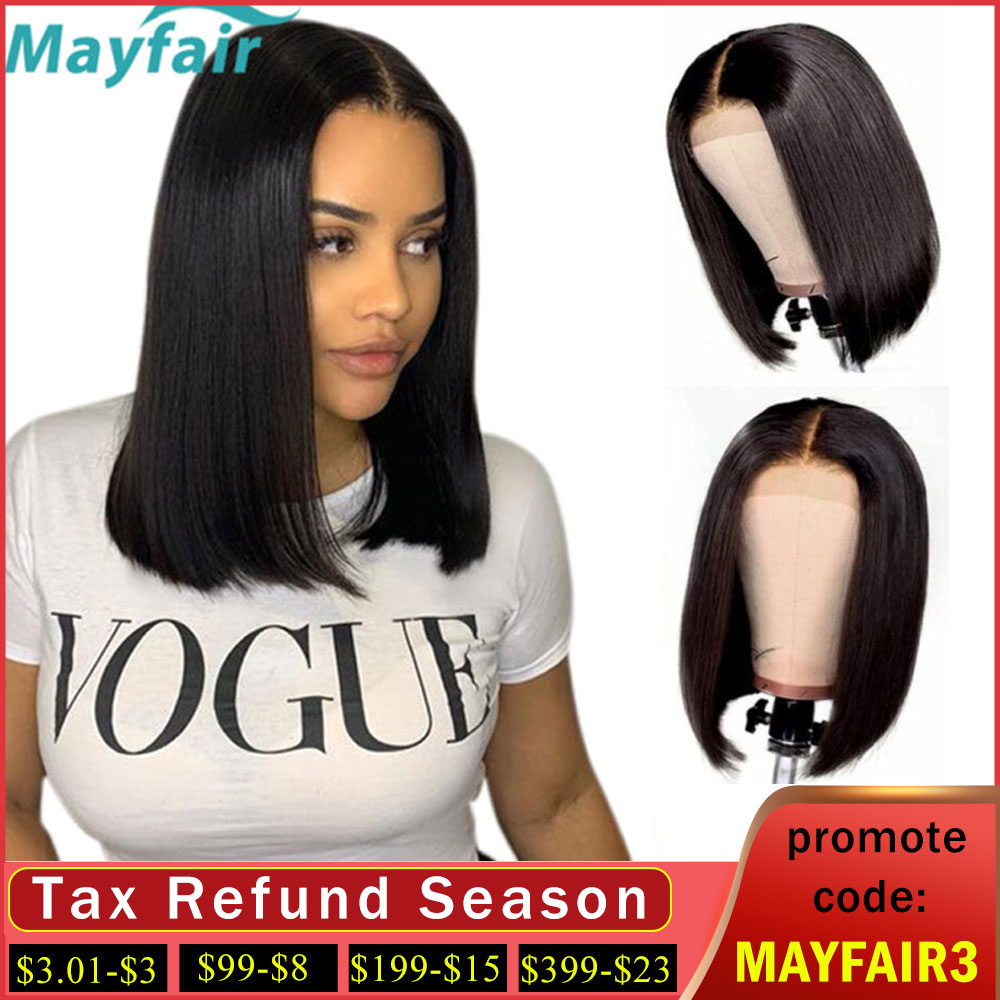 Lace Front Human Hair Wigs Short Bob Lace Front Wigs For Black Women Lace Closure Wigs Brazilian Straight Human Hair Wigs