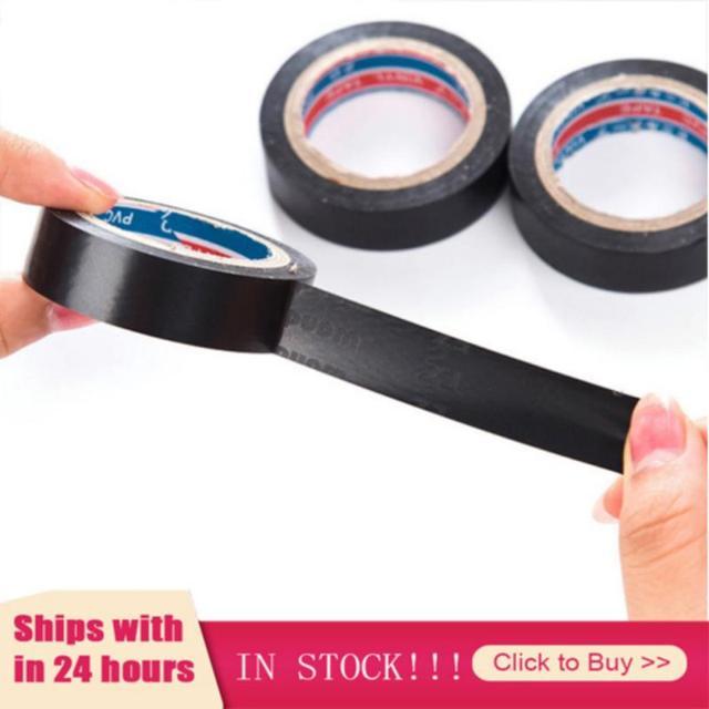 1pcs Black Tape Electrical Wire Insulation Flame Retardant Plastic Tape Waterproof Self-adhesive Tape Home Improvement