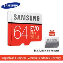 SAMSUNG hafıza kartı 32G 64G 128G 256G SDHC 95 MB/s sınıf EVO + MicroSD sınıf 10 mikro SD C10 UHS TF Trans Flash 32 GB telefon kartları
