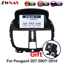 PX6 Android 10 DSP 4+64G DSP For Peugeot 207 2007 2008 2009 - 2014 Multimedia Car GPS DVD Player Radio Multimedia IPS Screen недорого