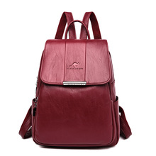 High Quality PU Leather Women Backpack Fashion School Bags for Teenager Girls Casual Women Backpacks Travel Backpack