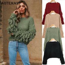 Женские свитера джемпер пуловер однотонная Осенняя Женская одежда
