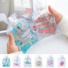 Мини мультяшная грелка, ручная грелка, милый прозрачный тепловой мешок, маленький портативный ручной подогреватель воды, сумка для хранения