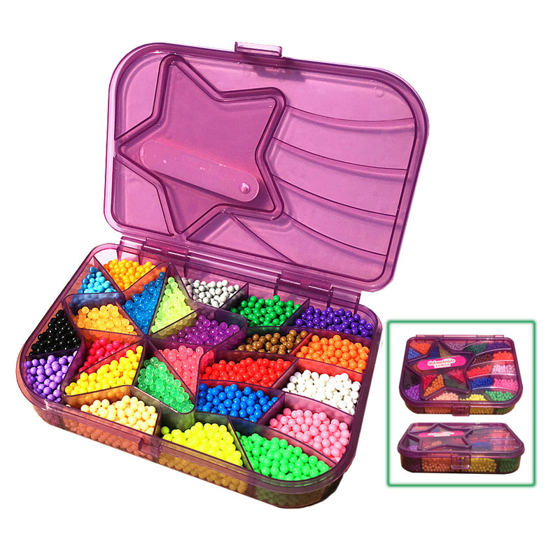 3D Magic Sticky Kids Beads Set 5.2mm Toy Aqua Set Beads Educational DIY Arts And Crafts For Girl Toys Gifts