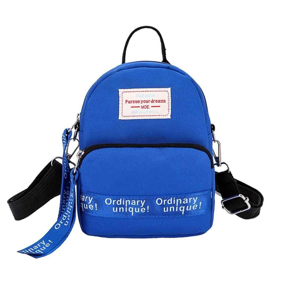 Phụ Nữ Học Túi Vải Bố Đa Túi Bé Gái Ba Lô Dành Cho Thanh Thiếu Niên Mini Bagpack Trường Trung Học Ba Lô Học Sinh Nhỏ Túi Đeo Vai