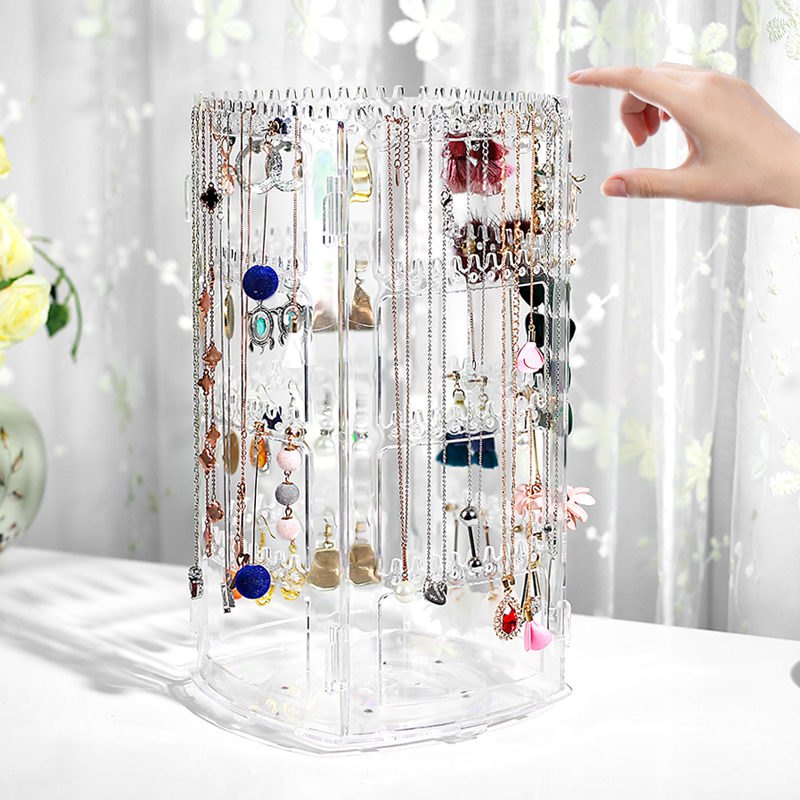 Expositor de joias, porta-joias para moças, colar, brincos, vitrine, joias, organizador, acessórios
