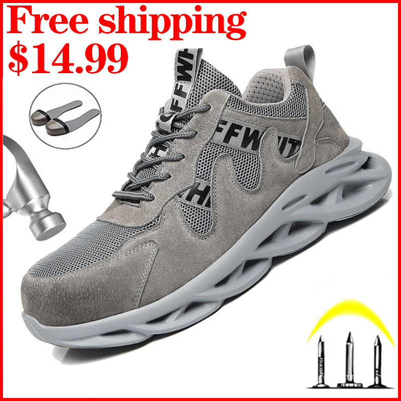 Lightweight Male Work Sneakers Construction Safety Shoes Men Work Boots Comfort Men Shoes Anti piercing Safety Boots Male Shoes|Work & Safety Boots|   - AliExpress