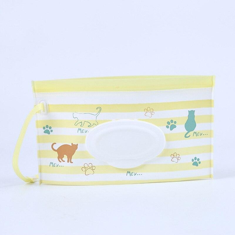 Детская сумка для влажных салфеток, тонкая бумажная практичная сумка для путешествий, портативный клатч, чехол для переноски, многоразовый, экологичный, сумка - Цвет: 4