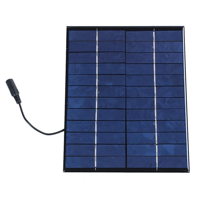 12V 5.2W Mini Solar Panel Polycrystalline Solar Cells Silicon Epoxy Solar DIY Module System Battery Charger + DC output|Solar Cells| |  - title=