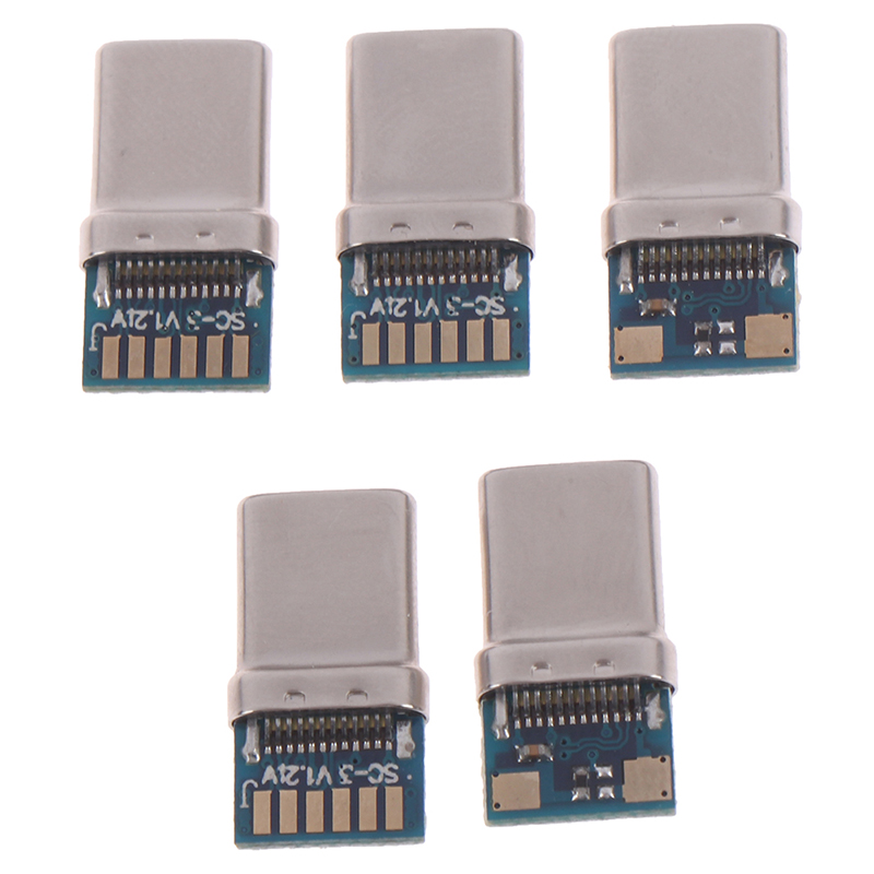 USB 3.1 Type C Connector 24 Pins Male Female Socket Receptacle Adapter To Solder Wire & Cable 24P PCB Board Support Module