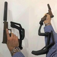 MAGORUI Taktische Faltbare Pistole StockFolding Glock Lager Cobra Hinterschaft für Glock G17 G19