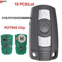 KEYECU 10PCS Remote Key Fob 3 Taste 315MHz PCF7945 Chip KYDZ Bord CAS3 CAS3 + für BMW 1 3 5 6 7 serie X5 X6 Z4