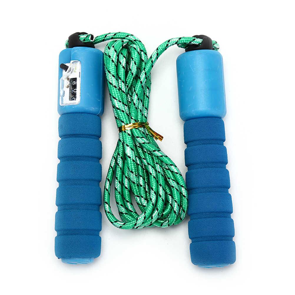 3Meter Dapat Disesuaikan CrossFit Latihan Kecepatan Cepat Menghitung Melompat Skip Rope Skipping Kawat Kalori Gym Olahraga Kebugaran Aksesoris
