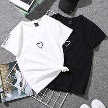 Черный «любящее сердце» вышивка пары Популярные летние высокое