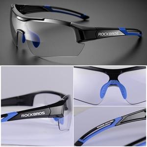 Image 5 - ROCKBROS Photochromic Cycling Glasses Bicycle Outdoor Sports Sunglasses Discoloration Glasses MTB Road Bike Goggles Bike Eyewear
