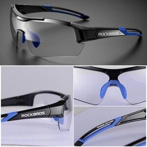 Image 5 - ROCKBROS fotochromowe okulary rowerowe rowerowe okulary przeciwsłoneczne sportowe przebarwienia okulary MTB drogowe okulary motocyklowe okulary rowerowe