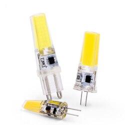 Новая светодиодная лампа G4 G9 E14 AC/DC 12V 220V 3W 6W COB LED G4 G9 Лампа для хрустальной люстры
