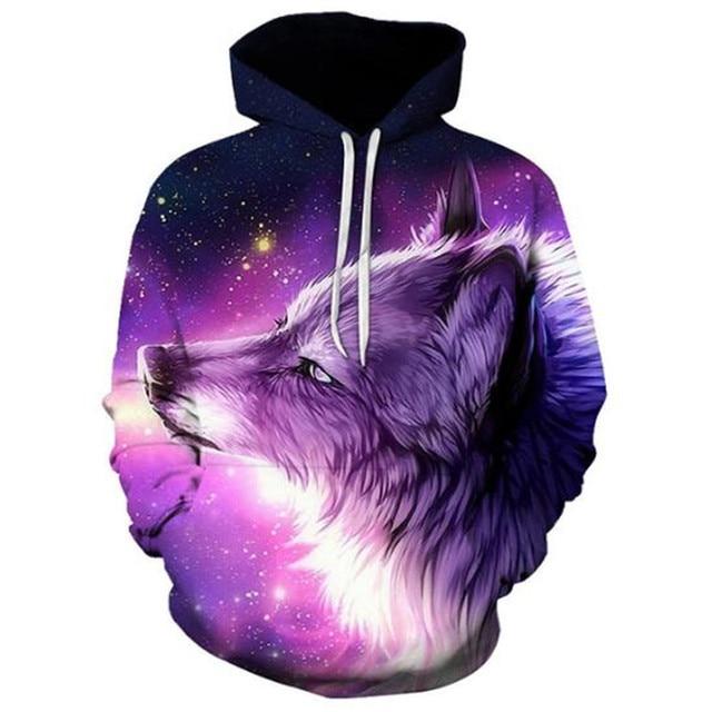 Boys sweatshirts 3D printing mans wommen ice fire Animal Wolf Series pullover animals long sleeve hoodies girls tops thin hoodie 4
