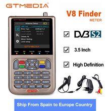 GTmedia V8 مكتشف الأقمار الصناعية DVB S2/S2X متر المستقبلات موالف سات مكتشف مع 3.5 بوصة LCD شاشة ملونة DVB S2 HD SatFinder