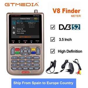 Image 1 - Gtmedia V8ファインダー衛星ファインダーdvb S2/S2X計受容チューナー土ファインダー3.5インチ液晶カラー画面DVB S2 hd satfinder