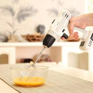 Image 5 - Youpin sans fil électrique sans fil perceuse à percussion 12V 25NM lumière LED tableau magnétique Portable pour le travail à domicile intelligent