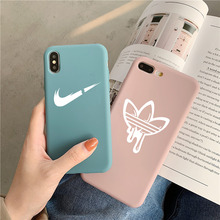 Street sports brand soft case for iphone 11 PRO MAX X XS XR 8 7 6 6S plus matte silicone Colorful Candy colors coque fundas capa цена и фото