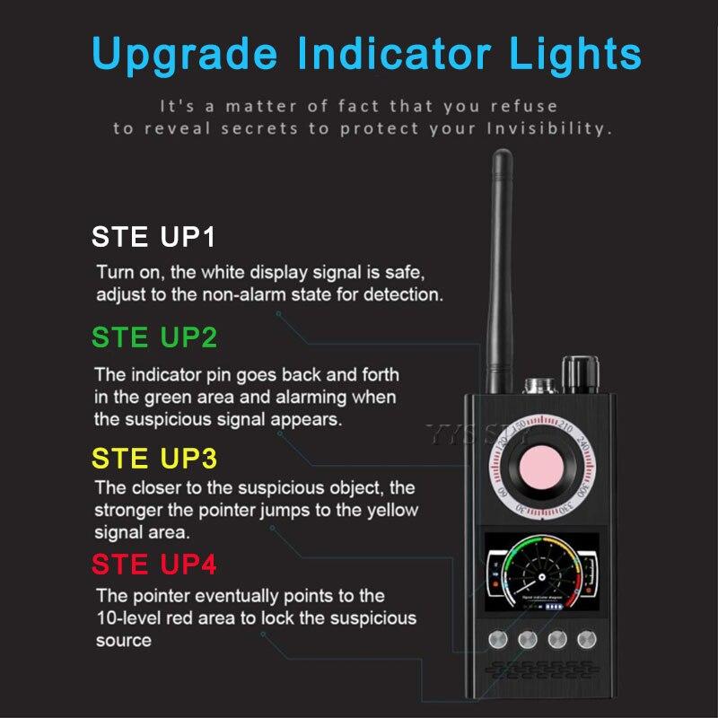 lowest price K68 Anti Spy Wireless RF Signal Detector Bug GSM GPS Tracker Hidden Camera Eavesdropping Device Military Professional Version
