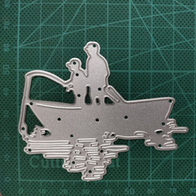64*78mm  Fishing boy Decorative Cards Metal Cutting Dies Stencil for DIY Scrapbooking Album Embossing Paper