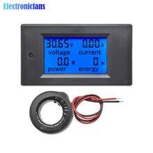 4 en 1 AC 80-260V 110V 220V tension tension courant mètre numérique LCD wattmètre puissance énergie ampèremètre voltmètre ampèremètre