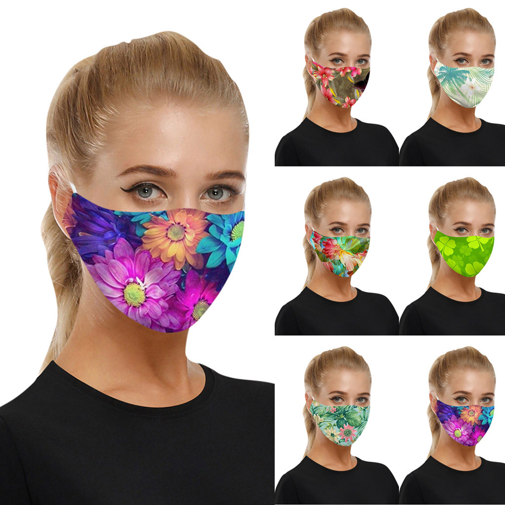Women ART Printing Reusable Protective PM2.5 Filter Mouth Mask Anti Dust Face Mask Bacteria Proof Flu Mask Drop Shipping