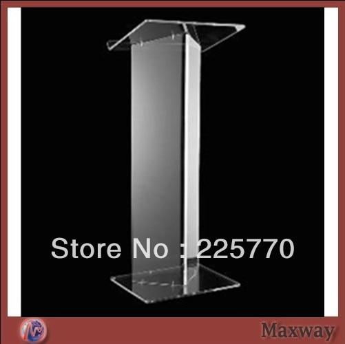 Transparent Acrylic School Lectern /acrylic Platform /perspex Rostrum /plexiglass Dais Cheap Church Podium