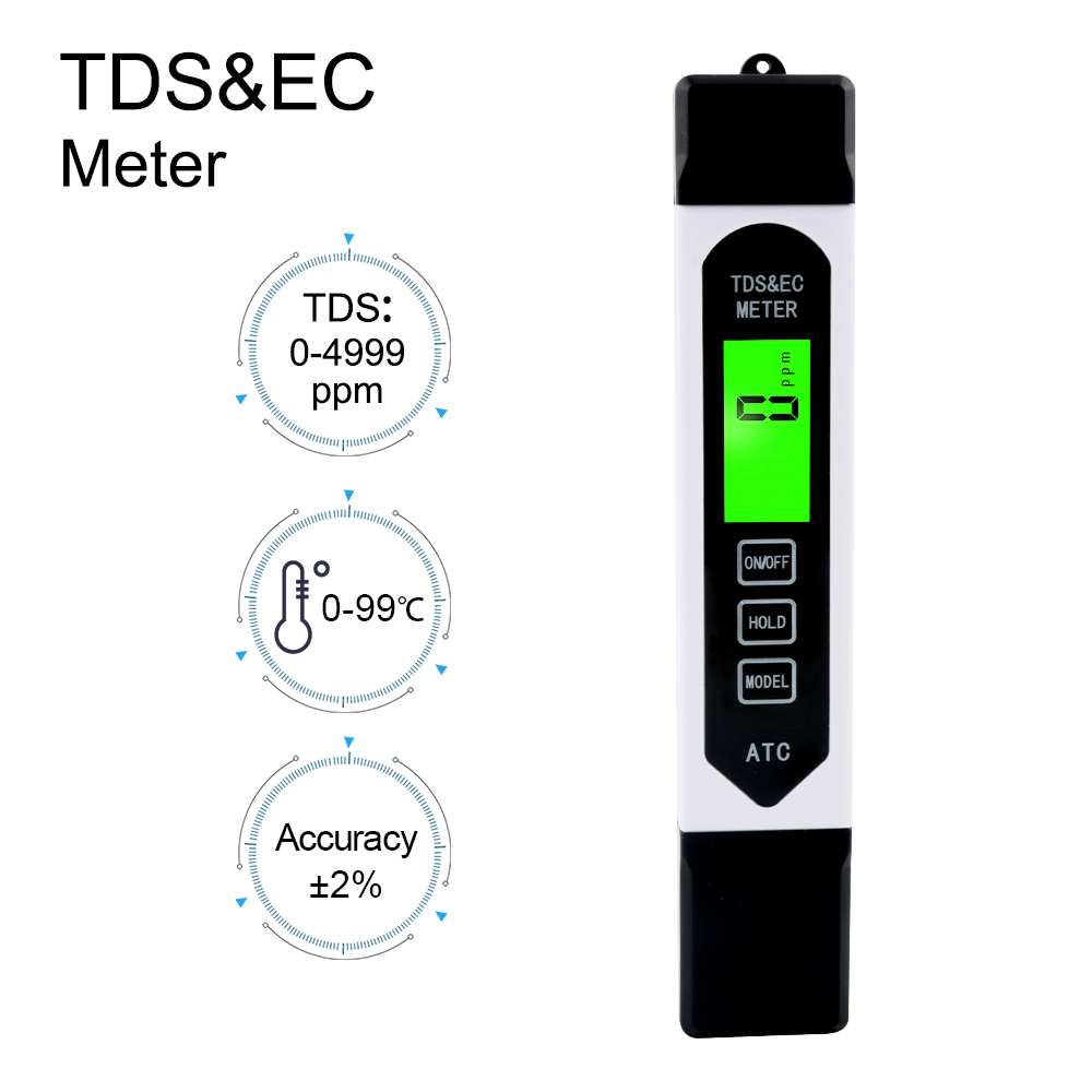 Professional TDS ppm Conductivity Meter Quick and Easy EC TDS and Temperature