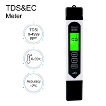 Portable Digital TDS Instrumentation EC Water Quality Pen ATC Conductivity Analyzer for Aquarium Swimming Pool Drinking Water high quality 3 in1 function portable pen digital tds