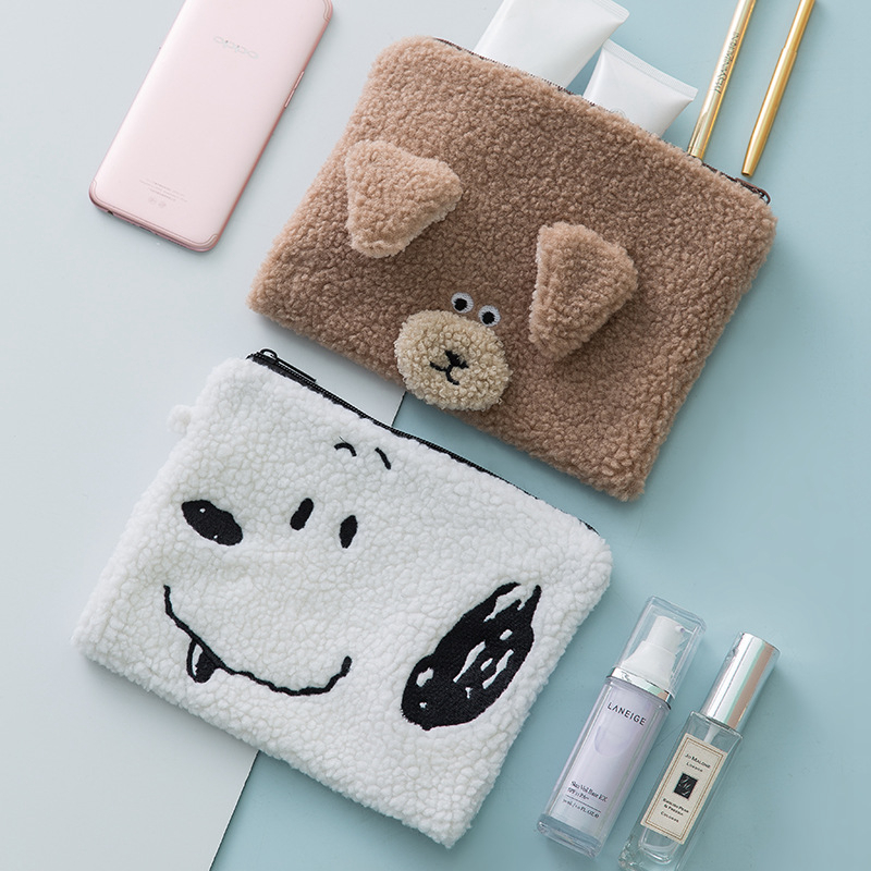 Cartoon Animal Bear Cosmetic Bag Travel Make Up Portable Makeup Case Organizer Toiletry Beauty Wash Women Storage Zipper Pouch