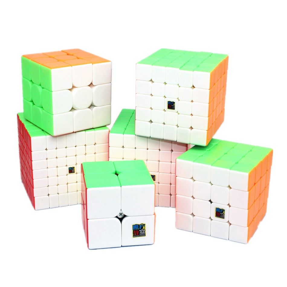 MoYu Meilong 6er Speedcube Set 2x2 3x3 4x4 5x5 6x6 7x7 Zauberwürfel Speedcube...