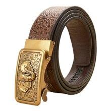 Quality Assurance Automatic Belt Fashion Men Genuine Leather Retro Elephant Buckle Belts Strap Brand Luxury Designer Leather Men