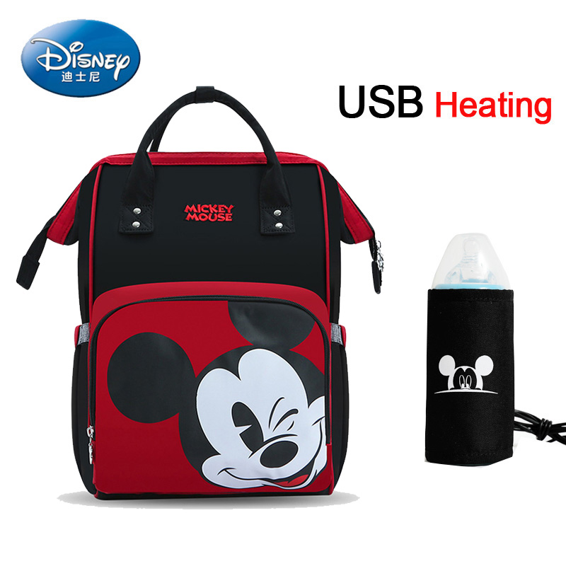 Disney Mother Bag Multi-Function Nappy Baby USB Bottle Insulation Maternity Bag Large Capacity Diaper Backpack  Mommy Bag