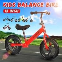 12 Inch Baby Bike Bicycle Colorful Kids No-Pedal Sports Balance Bike Bicycle Cycling Practice Riding Bike Kid Bicycle Kid's Gift