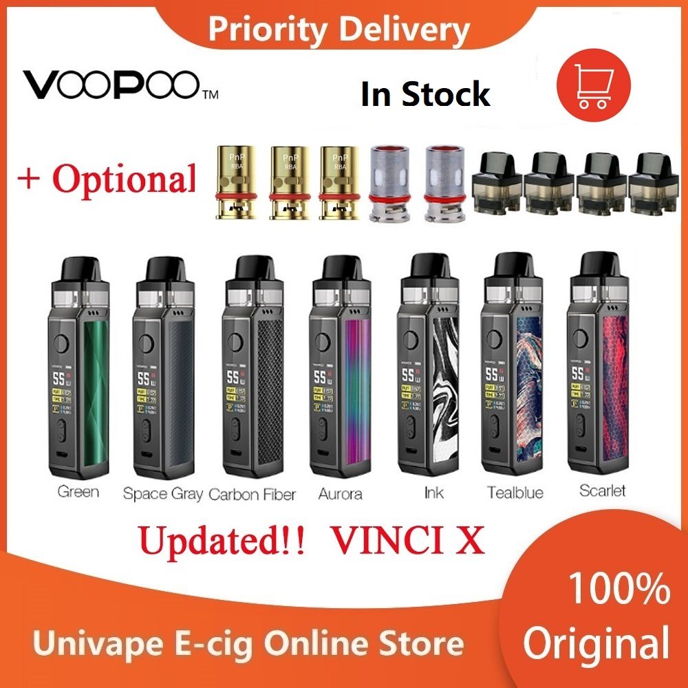 New Original VOOPOO VINCI X 70W Pod Kit Dual-coil System 0.96-Inch Screen Powered By One 18650 Battery Vape Kit VsVinci Mod Kit