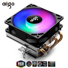 Aigo – caloducs de refroidissement CPU TDP 280W, ventilateur 3 broches, dissipateur de chaleur 90mm ARGB 115X/775/1366/2011/AM3 + AM4