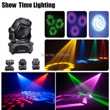 цена на Show Time 90W LED Gobo Moving Head With 3 Prism 8 kinds colors& images Spot Light DJ Party Disco wedding Moving heads Light