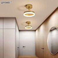 Lustres de led moderno para interior luzes do corredor café ouro minimalista personalidade iluminação lustre lâmpadas luminaria qiyimei
