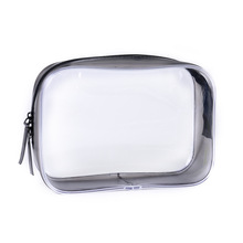 Transparent PVC Cosmetic Bag Waterproof Travel Wash Zipper Stereo Portable Women