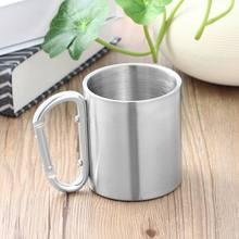 Наружная кружка для чая и кофе из нержавеющей стали с ручкой