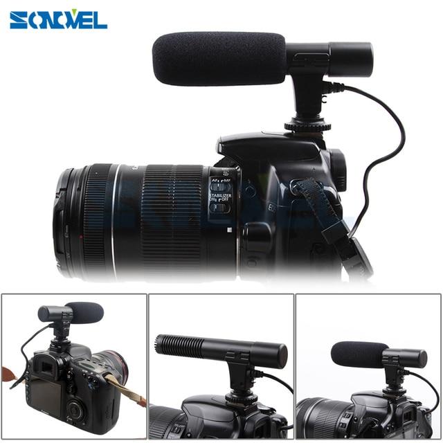 Mic 01 Professionnel Fusil Condenseur Microphone Caméra pour Canon EOS M2 M3 M5 M6 800D 760D 750D 77D 80D 5Ds R 7D 6D 5D Mark IV