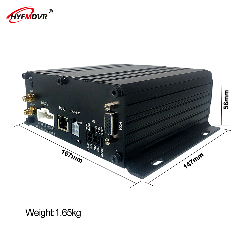 HYFMDVR 4CH MDVR autobús/barco/del coche dvr SD camión monitor host 4G GPS posicionamiento NTSC/PAL/modo - 3