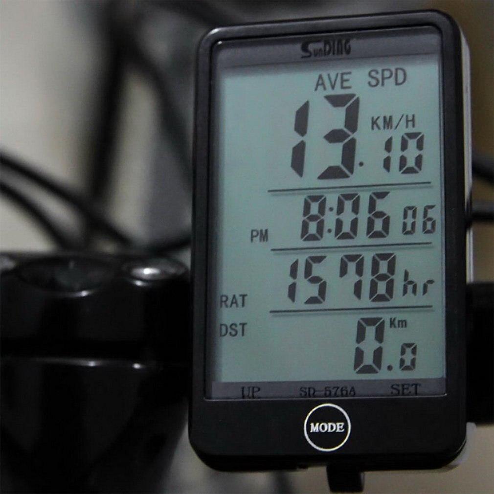 Sunding 576 проводной велосипедный компьютер ЖК дисплей Подсветка